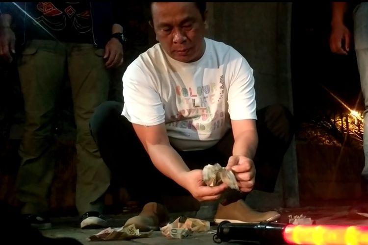 H, Pak ogah yang diamankan tim elang laut Polres Pelabuhan Tanjung Priok, Jakarta Utara pada Selasa (22/10/2019)