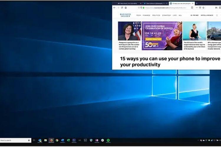 Cara melakukan split screen di Windows 10