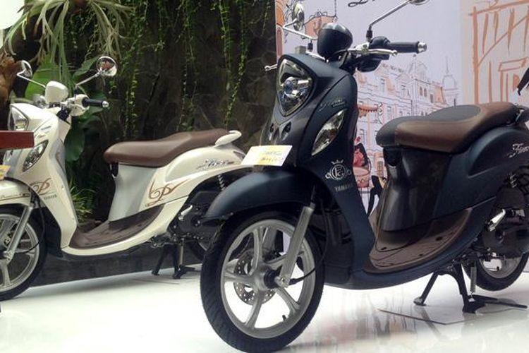 Yamaha meluncurkan varian baru Fino 125 Grande SSS AKS di Jakarta, Sabtu (18/2/2017).