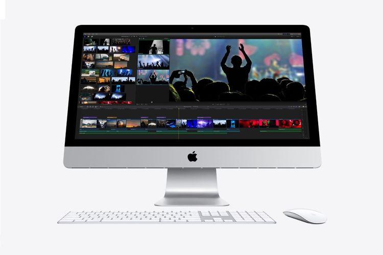 Ilustrasi iMac 27 inci generasi terbaru.