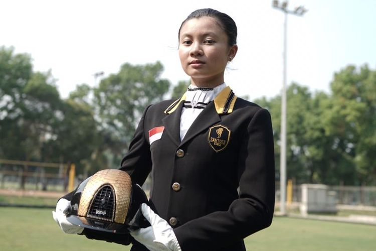 Atlet berkuda Indonesia, Ivana Putri Santosa.