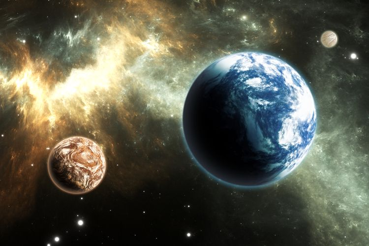 Ilustrasi planet seukuran Bumi yang belum lama ini ditemukan peneliti berada di bintang Proxima Centauri.