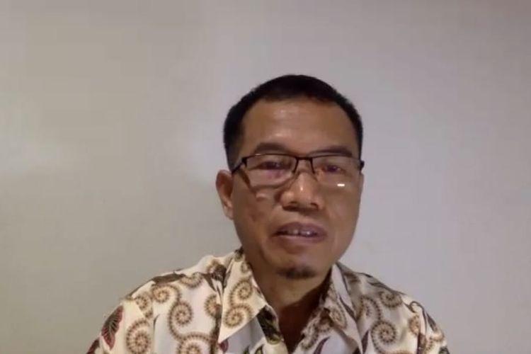 Plt Kepala Dinas Kesehatan Kaltim, Andi M Ishak saat memberi keterangan pers melalui video conference di Samarinda, Selasa (30/6/2020).