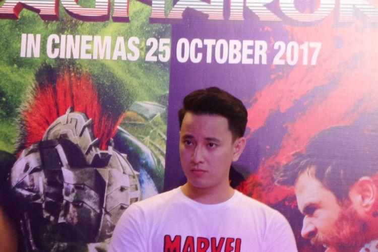Billy Davidson ketika menghadiri promosi film Thor: Ragnarok di Pasific Place, SCBD, Jakarta Selatan, Jumat (20/10/2017)