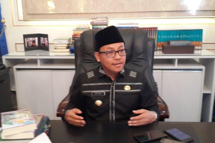 Wali Kota Malang, Sutiaji saat diwawancara di ruangannya di Balai Kota Malang, Senin (19/8/2019)