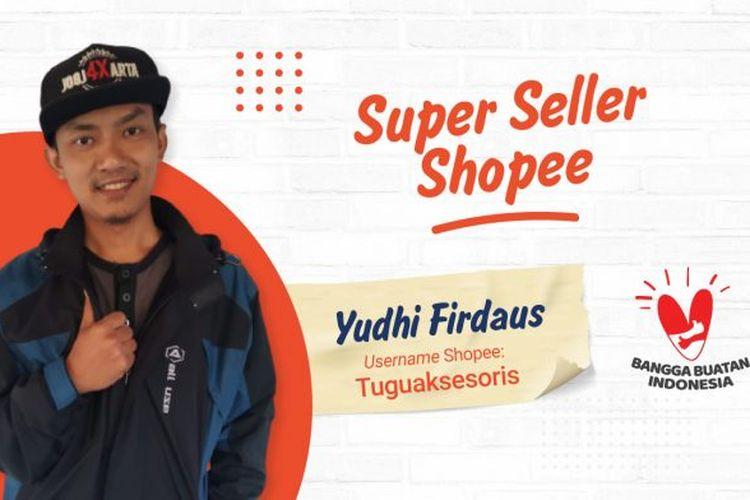 Salah satu penjual berstatus Star Seller, Yudhy Firdaus di platform Shopee.