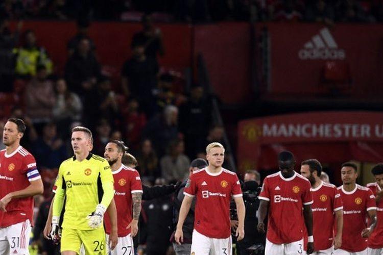 Manchester United pada pertandingan putaran ketiga Piala Liga Inggris melawan West Ham di Stadion Old Trafford, Kamis (23/9/2021) dini hari WIB.