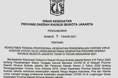Rekrutmen Nakes di DKI Jakarta untuk Pengendalian Covid-19, Ini Informasi Lengkapnya!