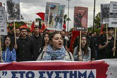 Ricuh, Massa Lempar Bom Molotov di Demo George Floyd Yunani