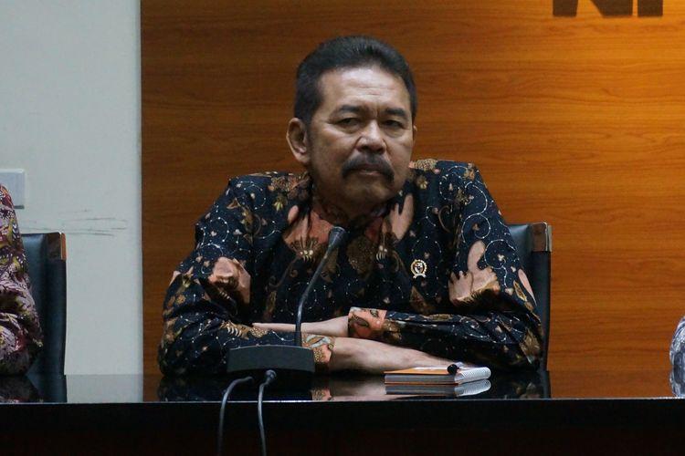 Jaksa Agung Sanitiar Burhanudin dalam konferensi pers di Gedung Merah Putih KPK, Jumat (8/11/2019).