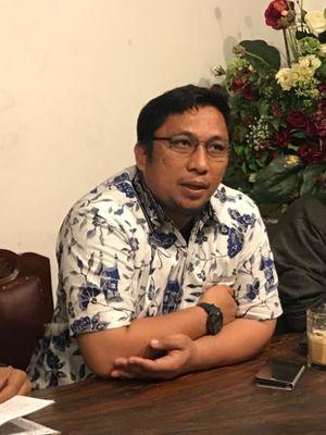 Direktur Pusat Studi Konstitusi (PUSaKO) Fakultas Hukum Universitas Andalas Feri Amsari dalam acara diskusi bertajuk Mencari Hakim Pelindung Hak Konstitusi, di Tjikini Lima, Jakarta Pusat, Senin (11/3/2019).