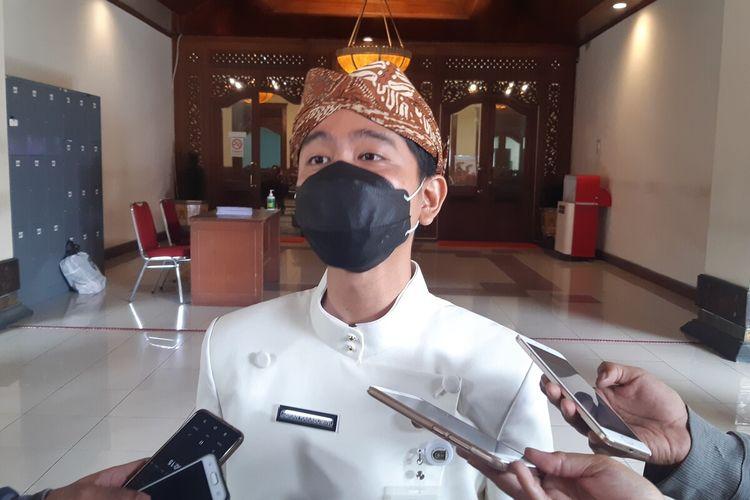 Wali Kota Solo Gibran Rakabuming Raka di Balai Kota Solo, Jawa Tengah, Kamis (4/3/2021).