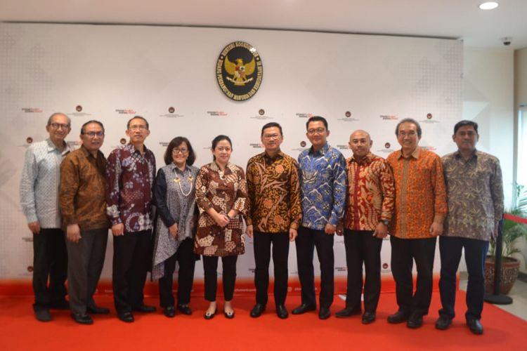 Pertemuan pengurus Persatuan Insinyur Indonesia (PII) dengan Menteri Koordinator Bidang Pembangunan Manusia dan Kebudayaan Puan Maharani di Jakarta, Kamis (21/2/2019).