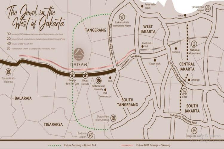 Daisan merupakan hunian strategis yang terletak di kawasan Tangerang New City.