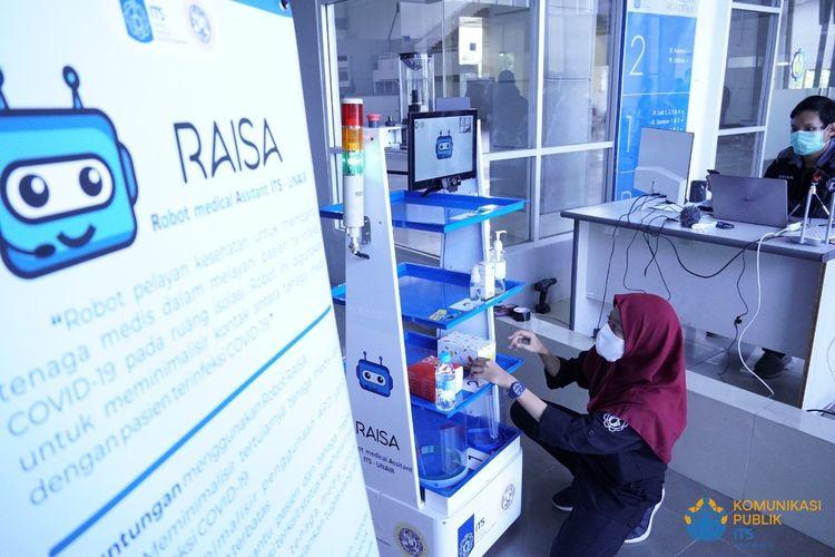 RAISA, Robot pelayan pasien Covid-19 buatan ITS-Unair