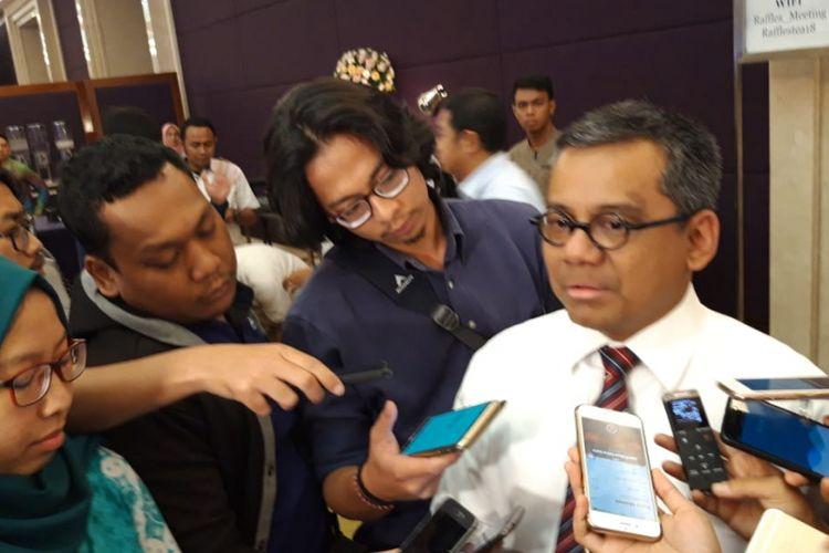 Kepala Badan Kebijakan Fiskal (BKF) Suahasil Nazara ketika ditemui awak media selepas memberikan paparan dalam Business Challenge 2019 di Jakarta, Senin (26/11/2018).