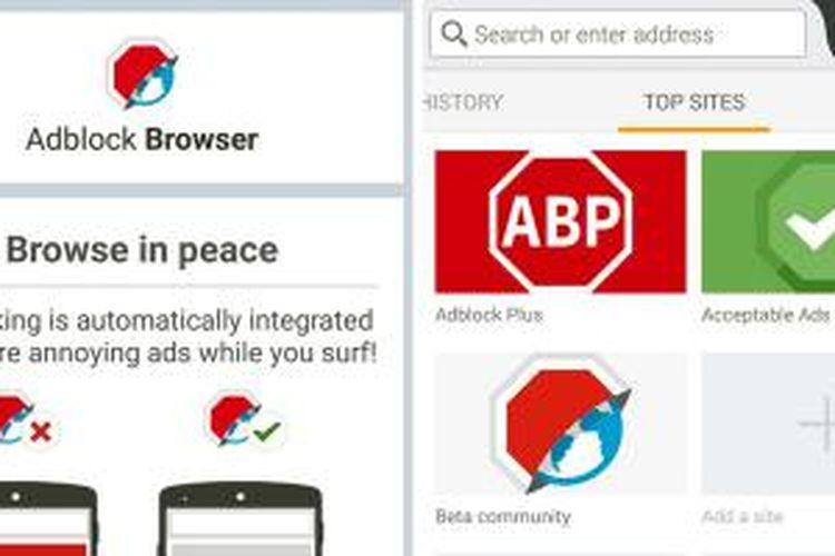 AdBlock Browser untuk Android.
