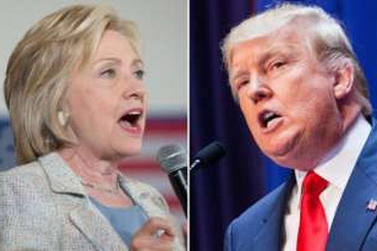 Hillary Clinton dan Donald Trump.