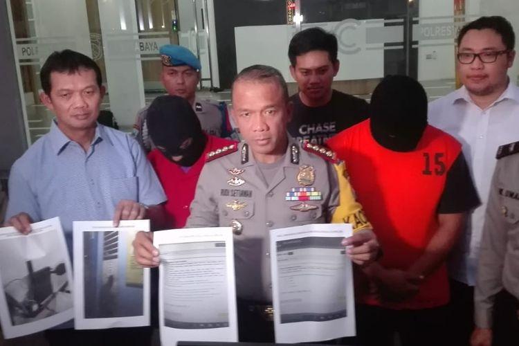 2 pelaku pembobolan soal UNBK SMP di Surabaya ditetapkan sebagai tersangka.