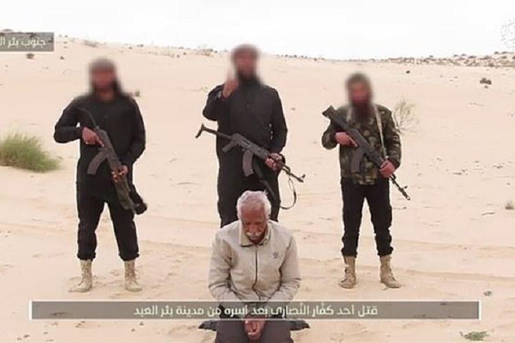 Tangkapan layar yang dipublikasikan Daily Mail memperlihatkan tiga anggota kelompok yang berafiliasi dengan ISIS berdiri di belakang Nabil Habashi, seorang penganut Kristen Koptik yang diculik sejak November 2020. Salama kemudian ditembak mati sebagai bentuk peringatan agar Kristen Koptik agar tidak mendukung pemerintah Mesir.