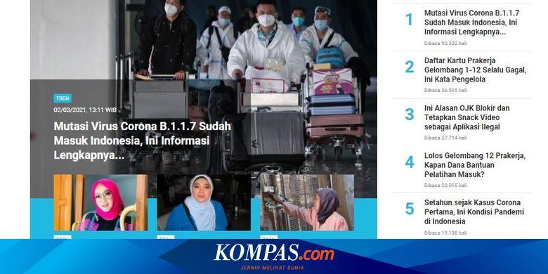 [POPULER TREN] Mutasi Virus Corona B.1.1.7 Sudah M