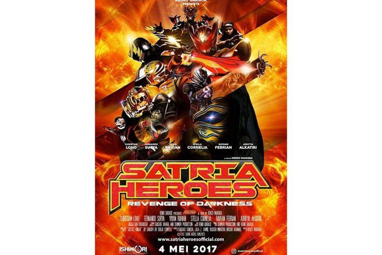 Poster film Satria Heroes : Revenge of the Darkness (2017).Tayang mulai hari ini, Rabu (10/09/2020) di Netflix