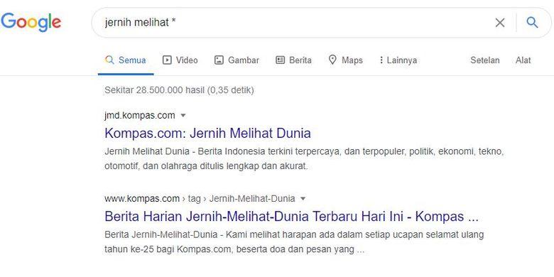 Cara menggunakan tanda bintang untuk pencarian di Google