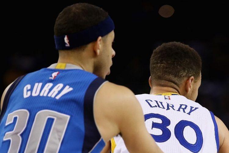 Seth dan Stephen Curry, salah satu pasangan bersaudara dalam sejarah NBA.