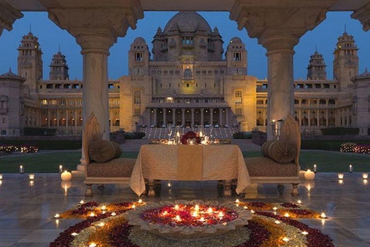 Umaid Bhawan Palace di Jodhpur, India.