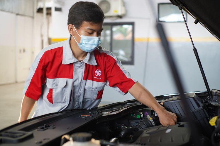 Ilustrasi layanan purnajual MG Motor Indonesia