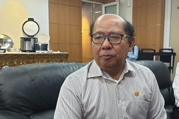 Ketua DPRD DKI Jakarta nondefinitif Pantas Nainggolan di lantai 3, Gedung DPRD DKI, Jalan Kebon Sirih, Jakarta Pusat, Selasa (10/9/2019)