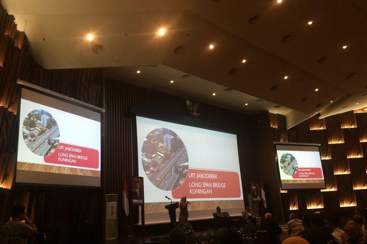 Sosok Arvilla Delitriana, pembuat Jembatan Lengkung (Long Span) LRT ketika mengisi acara ?Workshop Jembatan Lengkung LRT? di Auditorium Kementerian PUPR, Jakarta, Selasa, (27/11/2019).