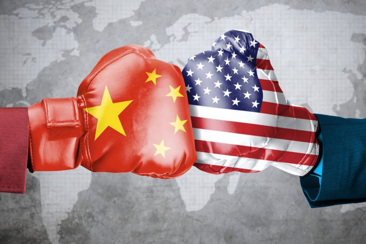 Illustration of US-China trade war.