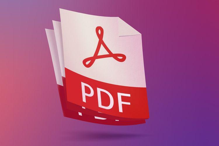 Ilustrasi file dalam format PDF.