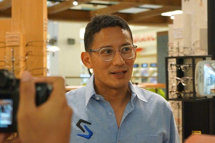 Sandiaga Uno ketika berkunjung ke gerai kedua Saturdays di mal Gandaria City, Jakarta Selatan, Sabtu (22/2/2020).