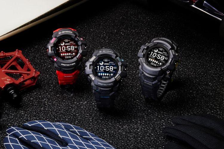 Ilustrasi tiga varian G-Shock GSW-H1000.