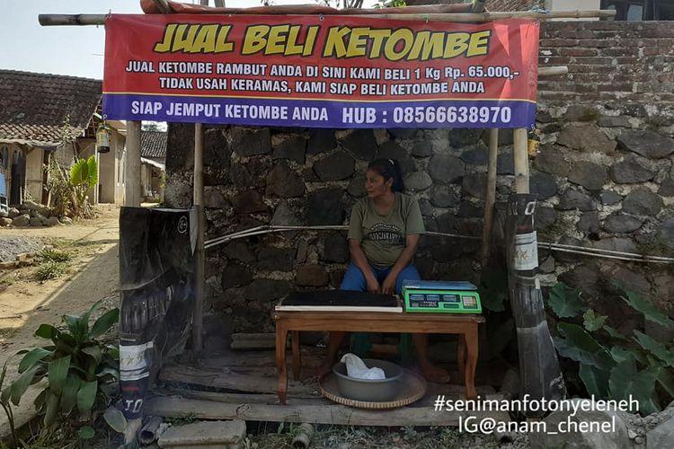 Lapak Jasa Jual Ketombe di Magelang yang viral di media sosial pada Jumat (11/10/2019).