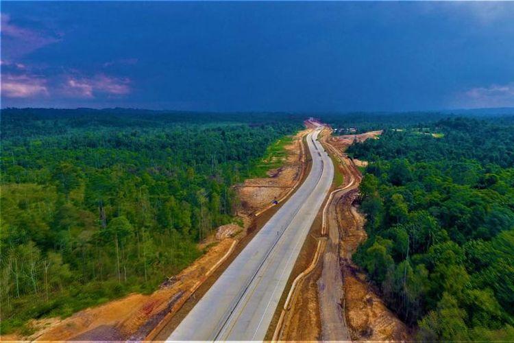 Kondisi terkini Jalan Tol Balikpapan-Samarinda