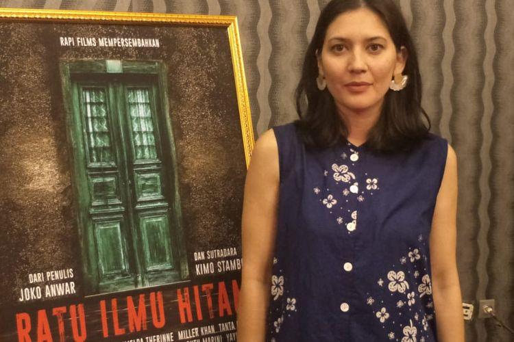 Hannah Al Rasyid saat ditemui dalam acara selamatan film Ratu Ilmu Hitam di Kantor Rapi Film, Cikini, Jakarta Pusat, Senin (25/3/2018).