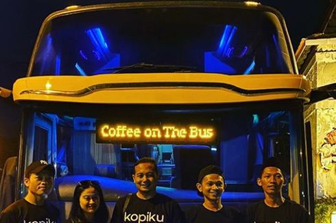 Imbas Pandemi, Bus Pariwisata Disulap Jadi Kedai Kopi Berjalan