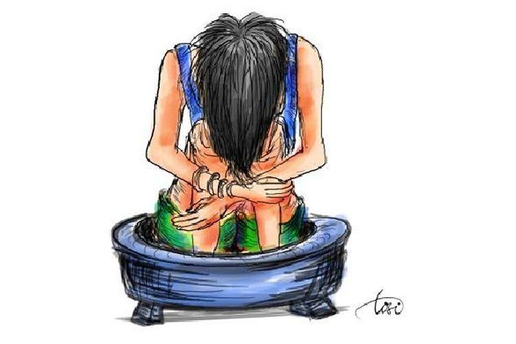 Ilustrasi kekerasan dan penyiksaan terhadap perempuan