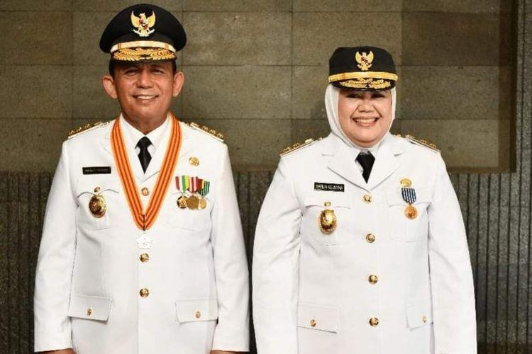 Gubernur Kepri Ansar Ahmad dan Wakil Gubernur Kepri Marlin.