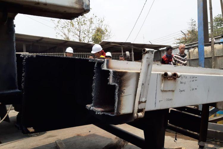 Kemenub mulai lakukan normalisasi truk yang kelebihan dimensi dengan cara dipotong