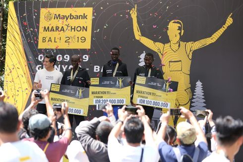 Maybank Marathon Bali 2019, Pelari Kenya dan Uganda Jadi yang Terbaik