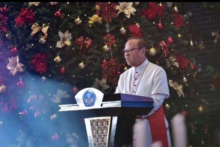 Perayaan Natal dan Tahun Baru 2020 di lingkungan Kemendikbud (17/1/2020) juga dihadiri Uskup Agung Jakarta Kardinal Ignatius Suharyo dan Pendeta Willem TP Simarmata.