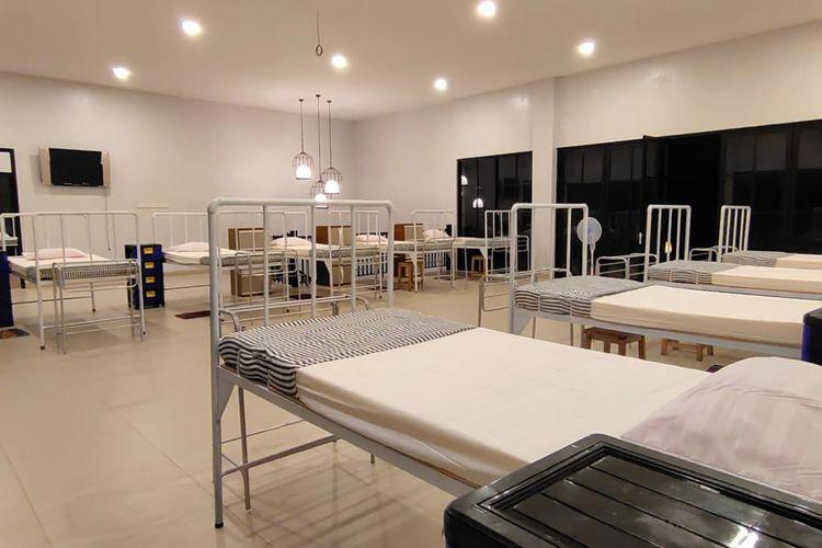 Salah satu ruangan dalam Vila yang digratiskan bagi pasien Covid-19 di Belitung.