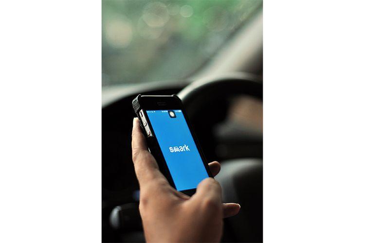 Aplikasi SMARK yang tersedia di smartphone (Dok. Best Parking Group)