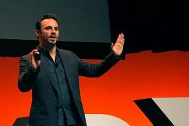 CEO Oculus Brendan Iribe ketika berbicara dalam acara AMD Developer Summit 2013, San Jose, Amerika Serikat, Rabu (13/11/2013)