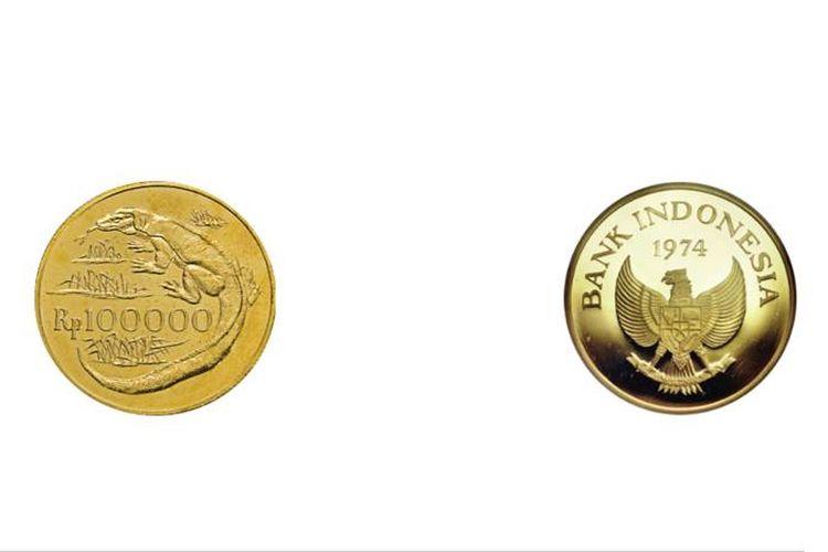 Tangkapan layar laman Bank Indonesia tentang uang logam Rp 100.000