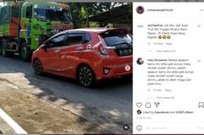 Video Viral Truk Lawan Honda Jazz, Enggak Ada yang Mau Ngalah